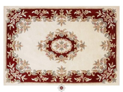 Royal Cream Red Rug 01 Overhead
