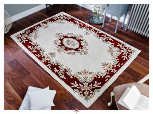 Royal Cream Red Rug 02 Roomshot