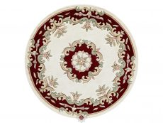 Royal Cream Red Rug 30 Circle