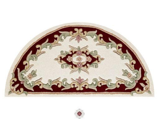 Royal Cream Red Rug 50 Half Moon